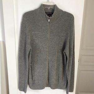 Michael Kors Gray Full Zip Sweater